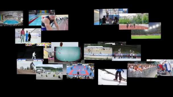 Klipy s obrazy koláž sportu