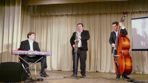 Hudební trio kapela hrát hudba
