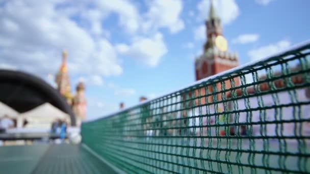 Stolní tenis hra poblíž Kremlu