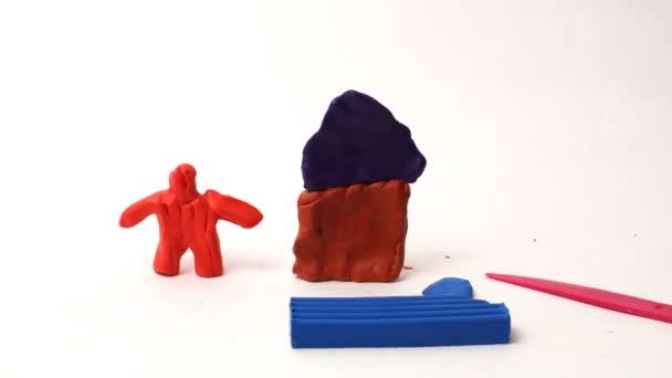Různé figurky z Plastelíny