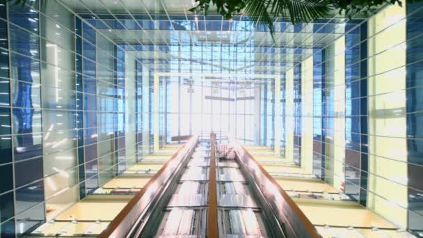 Dva výtahy pohybovat v několikapatrové budově