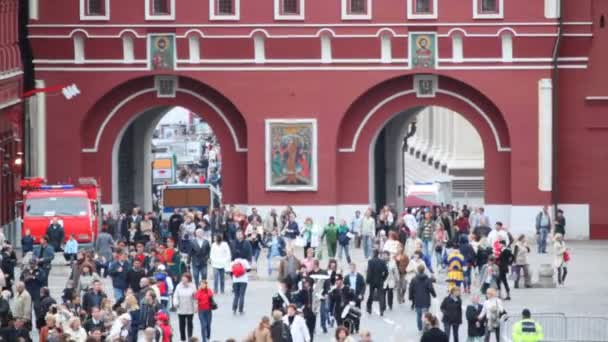 Soldiers  walking in Red Square