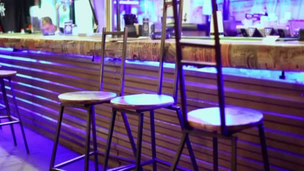 Chairs and bar counter in Gogol cafe