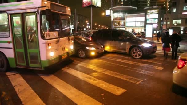 Bus turns at intersection
