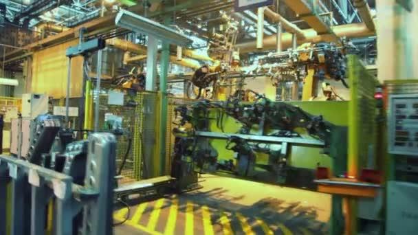 Robotika v výrobní linky v továrně