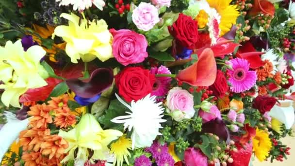 Flowers in large bouquet