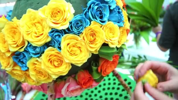Creation ball shaped bouquet of roses