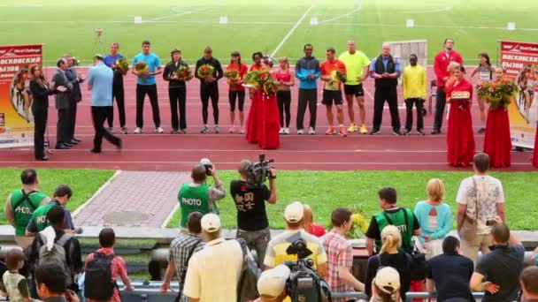 Award ceremony of athletics competitions