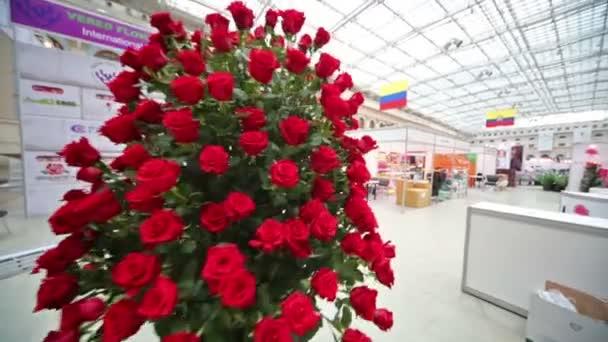 Due Grandi Mazzi Di Fiori Al Flower Show U2014 Video Stock