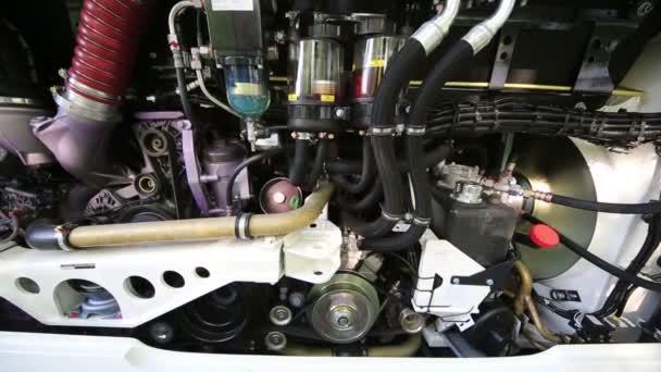 Zavřít pohled pracovní autobus motoru