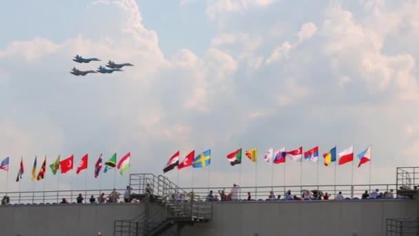 Russian SU-27 aircrafts at air show