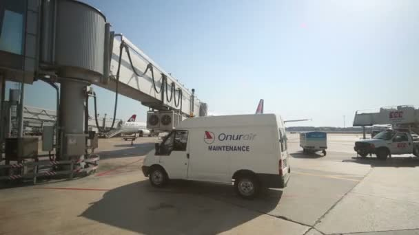 Airplane near terminal in Ataturk Airport