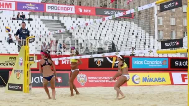 Brazil women play volleyball