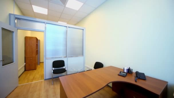 Interior of small empty office