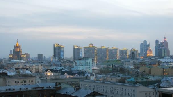Panoráma města s mrakodrapy