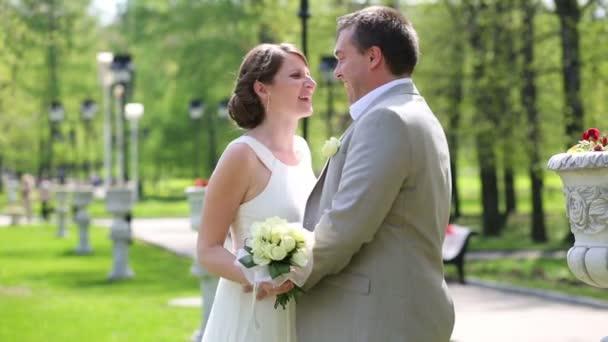 Beautiful bride with groom dance