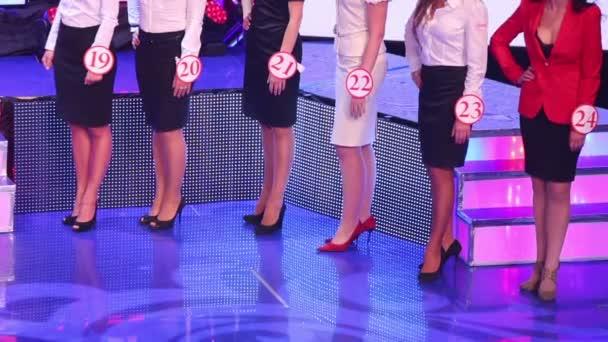 Beine in High Heels von Models