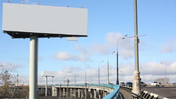 blank billboard at sunny day