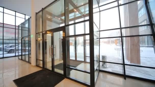vstupní dveře skla v business centru