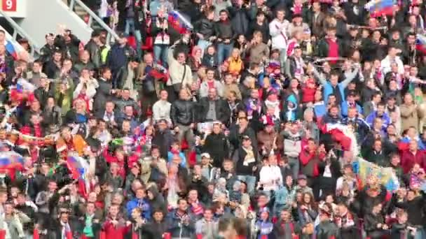 Russian fans at game