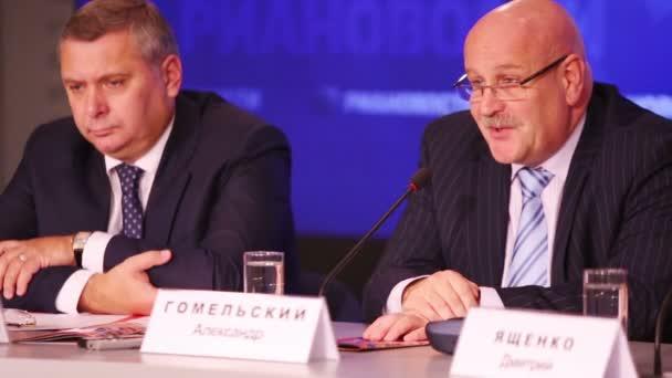 Gomelsky speaks at press conference