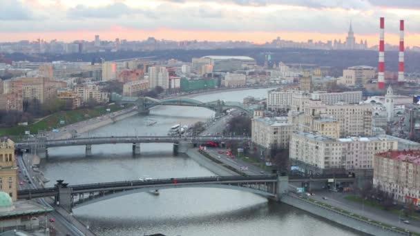 Three bridges over river