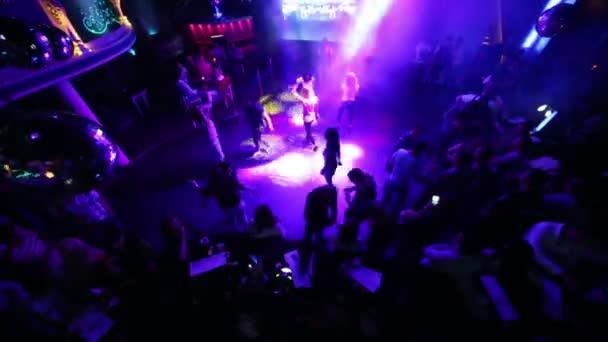 Dancefloor with dancing people