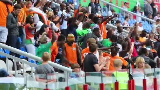 Dancing fans from Ivory Coast