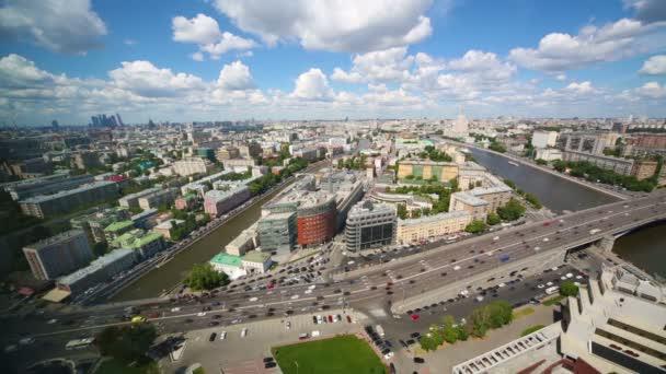 Pohled na krásné panorama s mrakodrapy