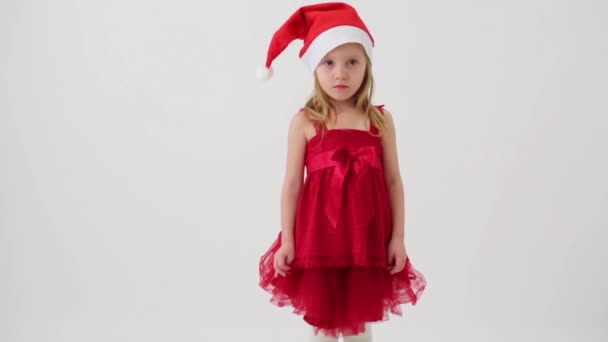 Cute little girl in red dress