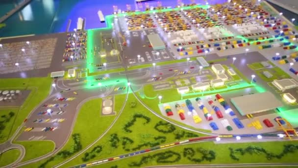 Small model of seaport at International Exhibition