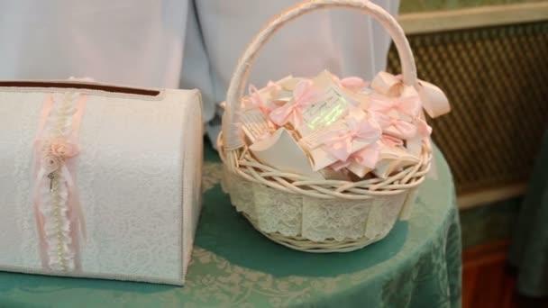 Wedding invitations and money chest