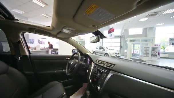 suzuki in dealership avtomir on baikalskaya — stock video #75456695