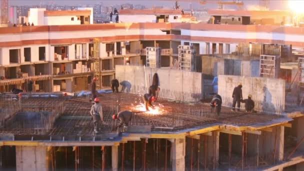 Stavební práce na staveništi
