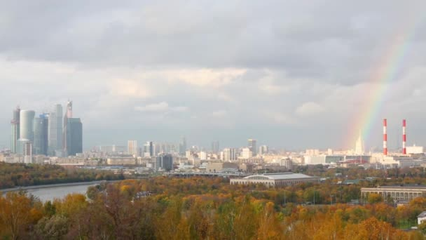 Panoramic view on Moskva river