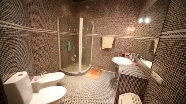 Koupelna se sprchovým koutem, WC a bidet