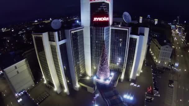 Cityscape s budovou společnosti Lukoil