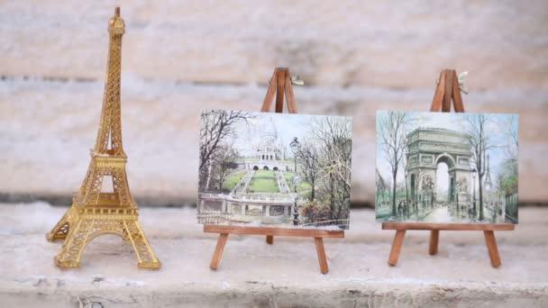 Suvenýr Eiffel Tower – fotky z Paříže