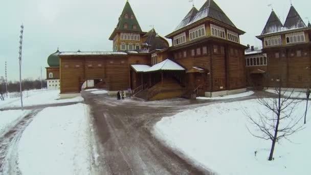 Entrance of wooden palace in Kolomenskoye