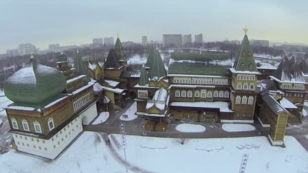 Cityscape with reconstructed wooden palace