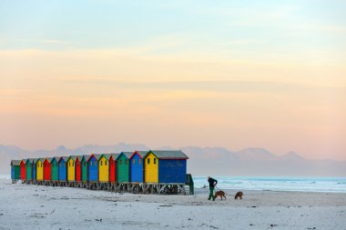 Muizenberg beach near Cape Town in South Africa
