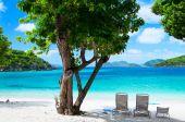 krásné tropické pláži v Karibiku