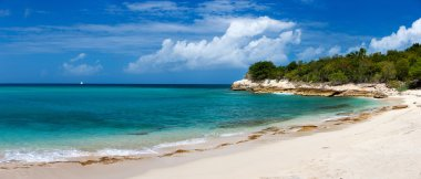 Beautiful beach on St Martin Caribbean