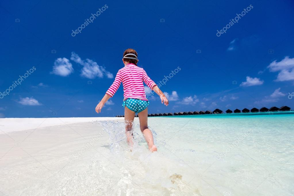 Child on a tropical vacation