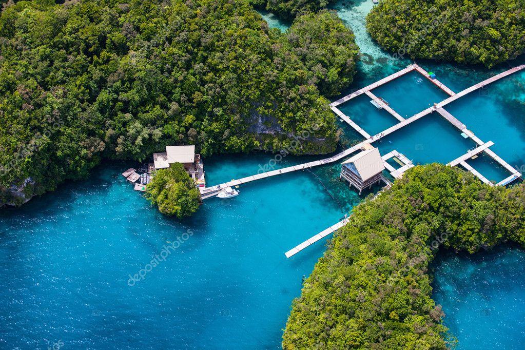 palau islands from above stock photo shalamov 91410068