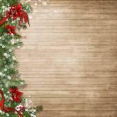 Fotografie Weihnachten-Holz-Hintergrund
