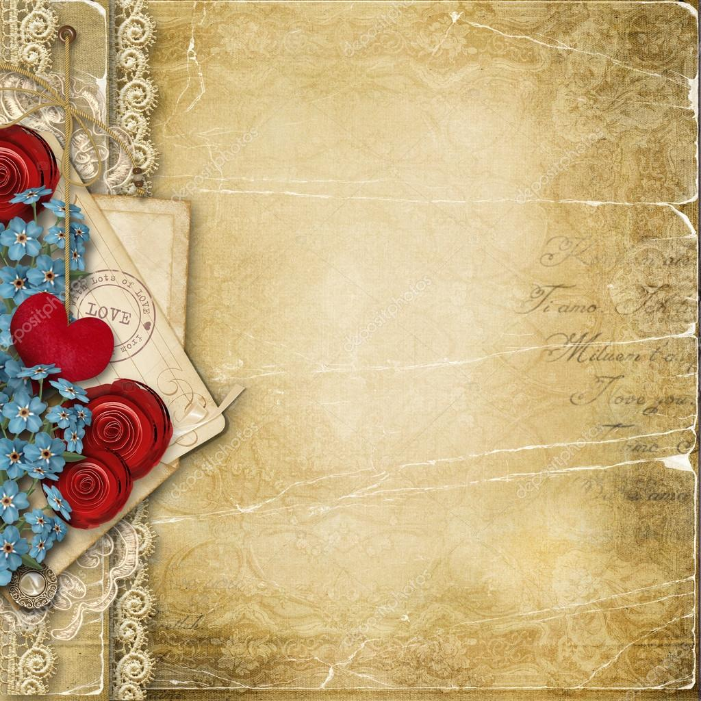Vintage love background — Stock Photo © chiffa #62147293