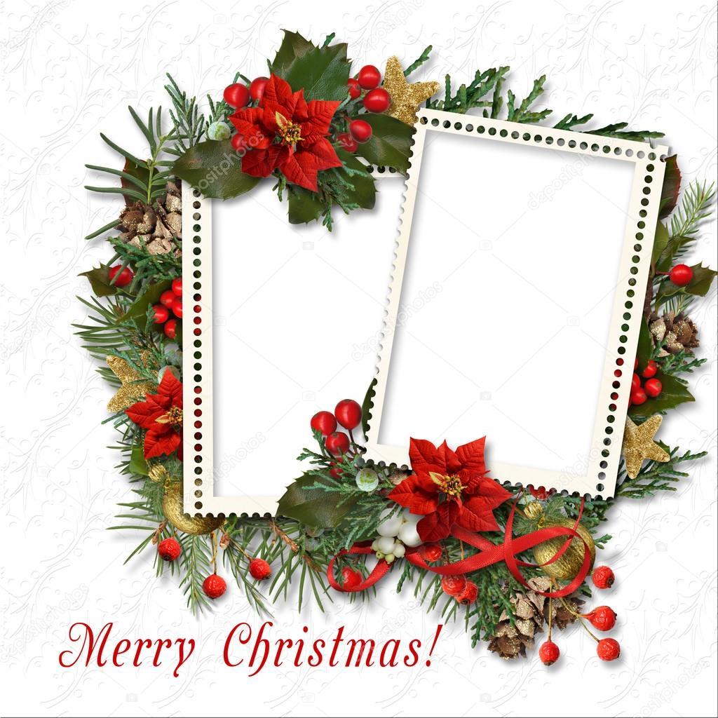 Marco de Navidad con la frontera — Foto de stock © chiffa #92003320