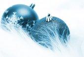 modrý vánoční hračky