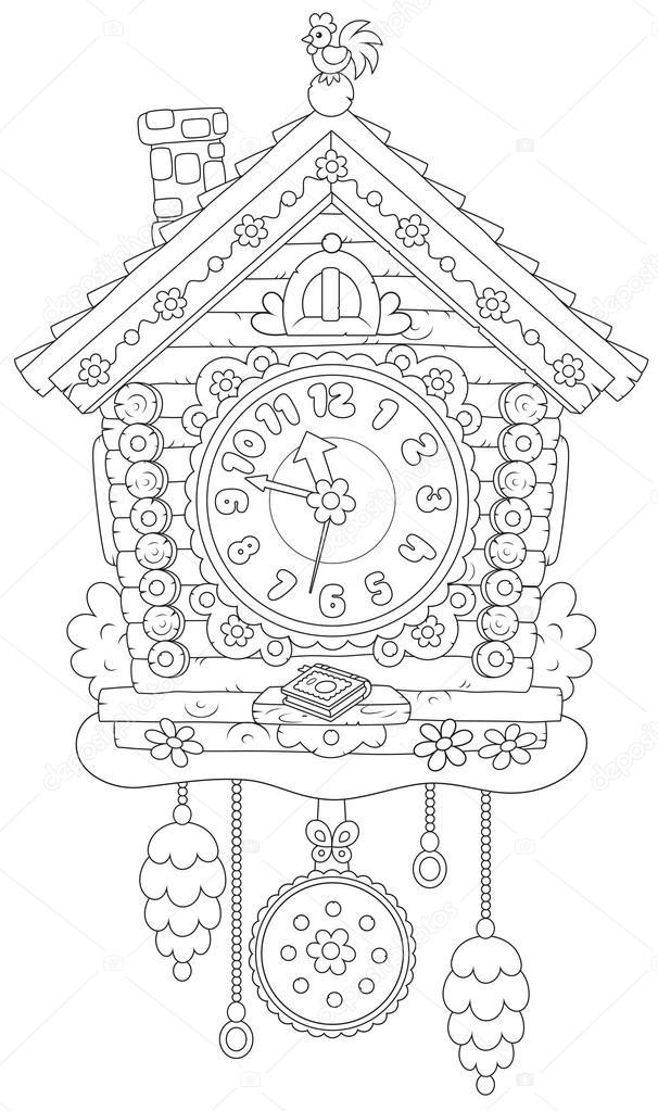 Imágenes Reloj Cucu Para Colorear Reloj Cucú Foto De